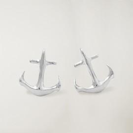 Pendientes, Plateado, Anchor Logo