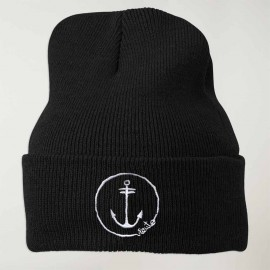 Sailor Hat Black Anchor Logo