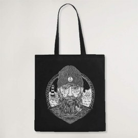 Cotton Bag Black Dark Captain