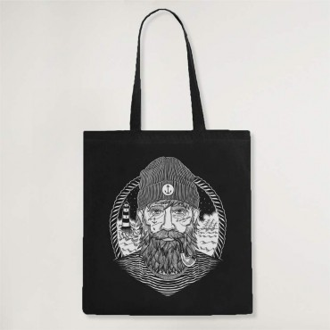 Cotton Bag Black Dark Captain