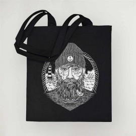 Borsa in cotone Nera Dark Captain
