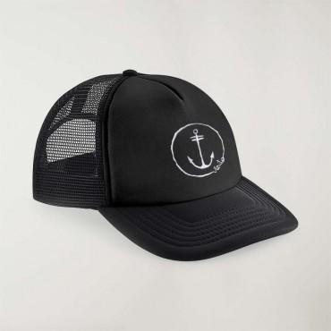 """Cap """"Viento"""" Schwarz - The Anchor Logo mit Stickerei"""