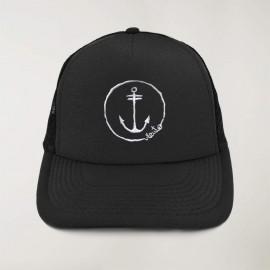 """Cap """"Viento"""" Noir - The Anchor Logo avec de la broderie"""