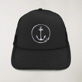 "Cap ""Viento"" Schwarz - The Anchor Logo mit Stickerei"