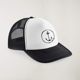 "Cap ""Viento"" Black and white - The Anchor Logo with embroidery"