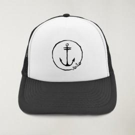 """Cap """"Viento"""" Noir et Blanc - The Anchor Logo avec de la broderie"""