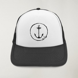 "Gorra ""Viento"" Negro y Blanca - The Anchor Logo con bordado"