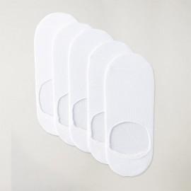 Confezione da 5 paia di fantasmini Uomo Bianco Viento Basics