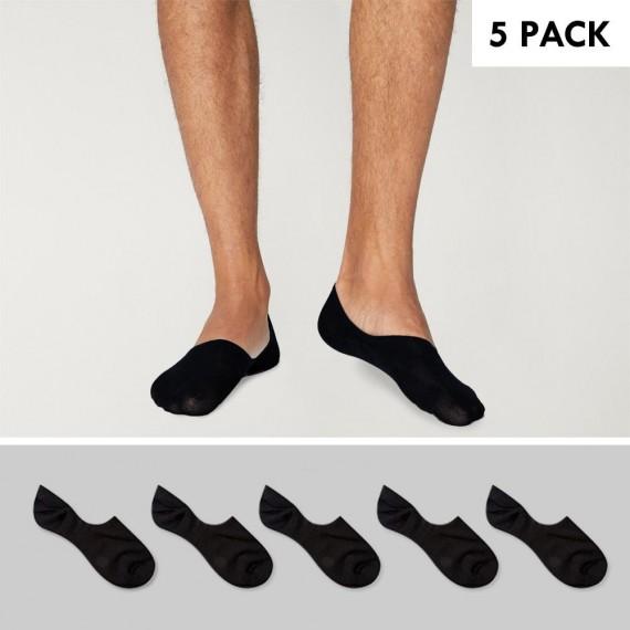 anders Bestbewertete Mode beste Schuhe 5 Pack Invisible Socks Men Black Viento Basics