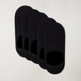 Lot 5 de chaussettes invisibles Homme Noires Viento Basics
