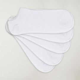 Lot 5 de chaussettes invisibles Homme Blanches Viento Basics