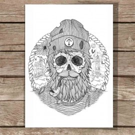 Grande Illustration Blanc Sailing Ghost
