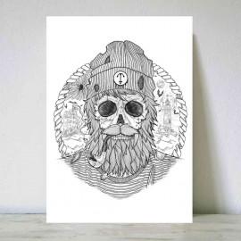Ilustración Grande Blanca Sailing Ghost