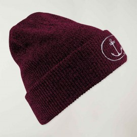 Sailor Hat Burgundy Triblend Anchor Logo