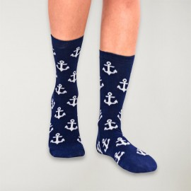 Calcetines de Mujer Azul Marino Anchor Plot