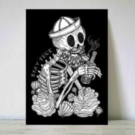 Grande Illustration Noir Hangover