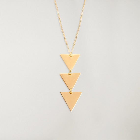 Necklace Unisex Triangle