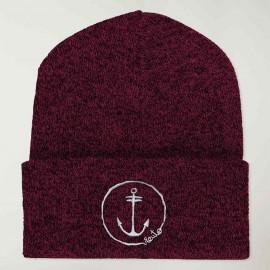 Chapeau de marin Bordeaux Triblend Anchor Logo