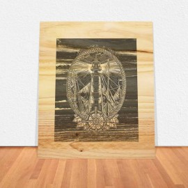 Wooden Table Transfer Night Lighthouse