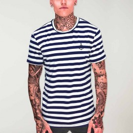 T-shirt Homme Blanc /Bleu Marine El Marinero