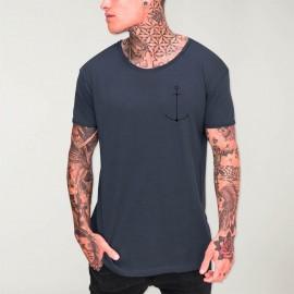 T-shirt Herren mit U-Ausschnitt Ozean Minimal Anchor