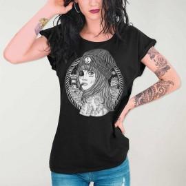 Camiseta de Mujer Negra Beauty Captain