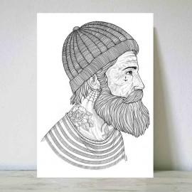 Grande Illustration Blanc Seaman