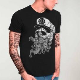 T-shirt Herren Schwarz Skull Mattketmo