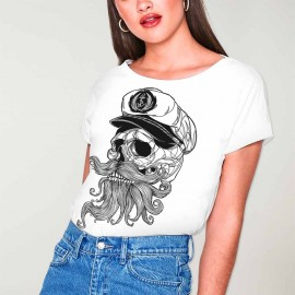 T-shirt Damen Weiß Skull Mattketmo