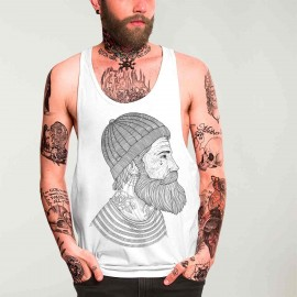 Men Tank Top White Seaman