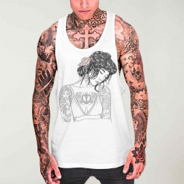 Men Tank Top White Reflexion