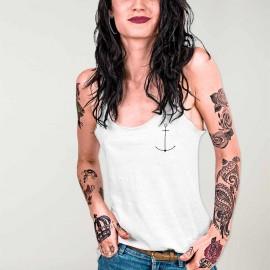 Camiseta de tirantes de Mujer Blanca Minimal Anchor