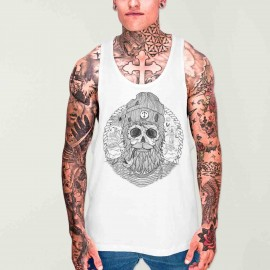 Men Tank Top White Sailing Ghost
