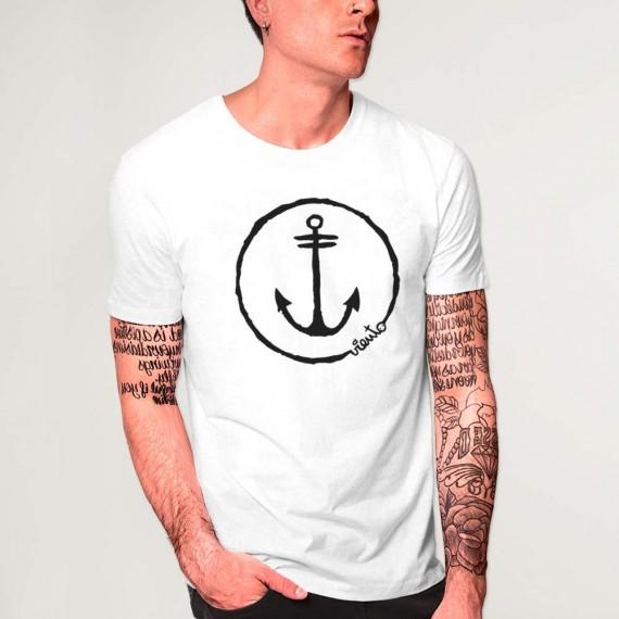 T-shirt Unisex White Anchor Logo