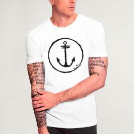T-shirt Unisexe Blanc Anchor Logo
