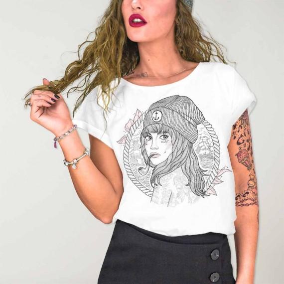 T-shirt Femme Blanc The Women Captain