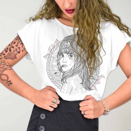T-shirt Femme Blanc The Women Captain