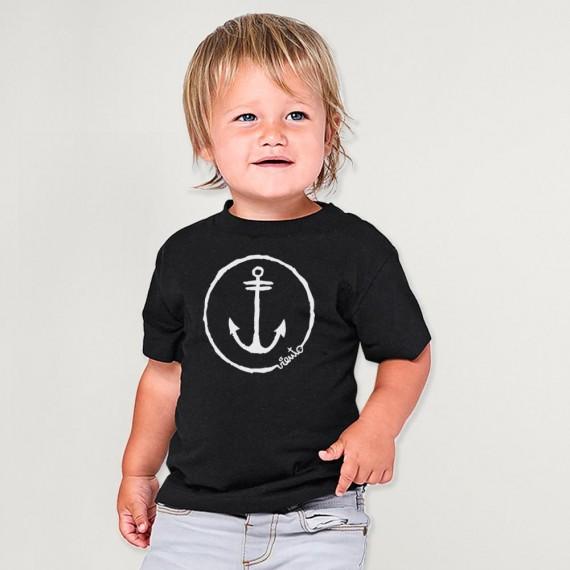 T-shirt Baby Black Anchor Logo
