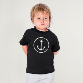T-shirt Bébé Noir Anchor Logo