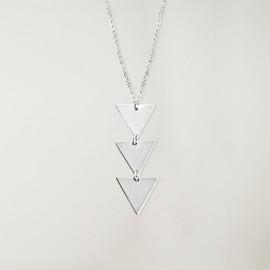 Collier Unisex Argentés Triangle