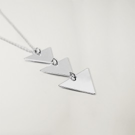 Necklace Unisex Silver Triangle