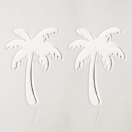 Boucles d'oreilles Argent Palm