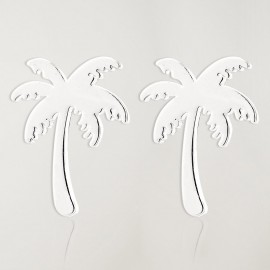 Earrings Silver Palm