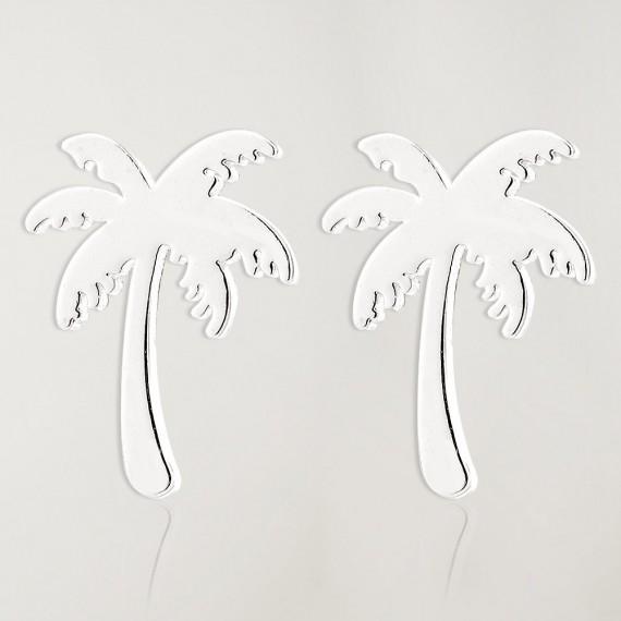 Earrings Silver Palm