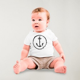 T-shirt Baby White Anchor Logo