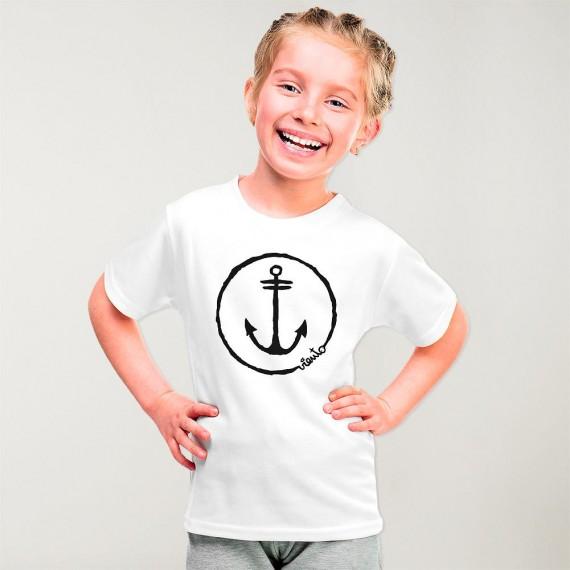T-shirt Girl White Anchor Logo