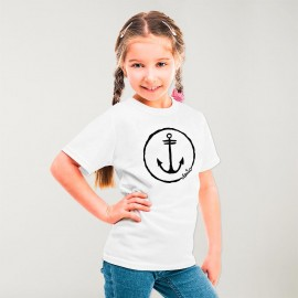 Camiseta Niña Blanco Anchor Logo