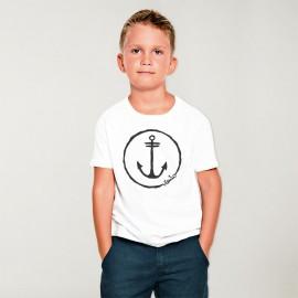 T-shirt Garçon Blanc Anchor Logo