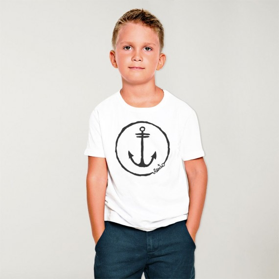 T-shirt Jungen White Anchor Logo