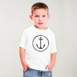 Camiseta Niño Blanco Anchor Logo